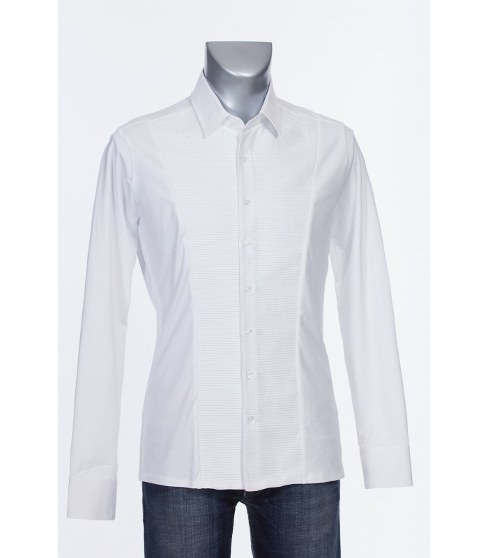 cotton shirt in white with tucks