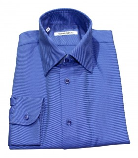 cotton shirt in blue with stripes pattern