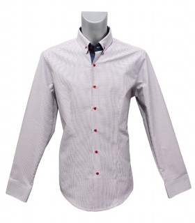 cotton shirt with pattern in red and blue