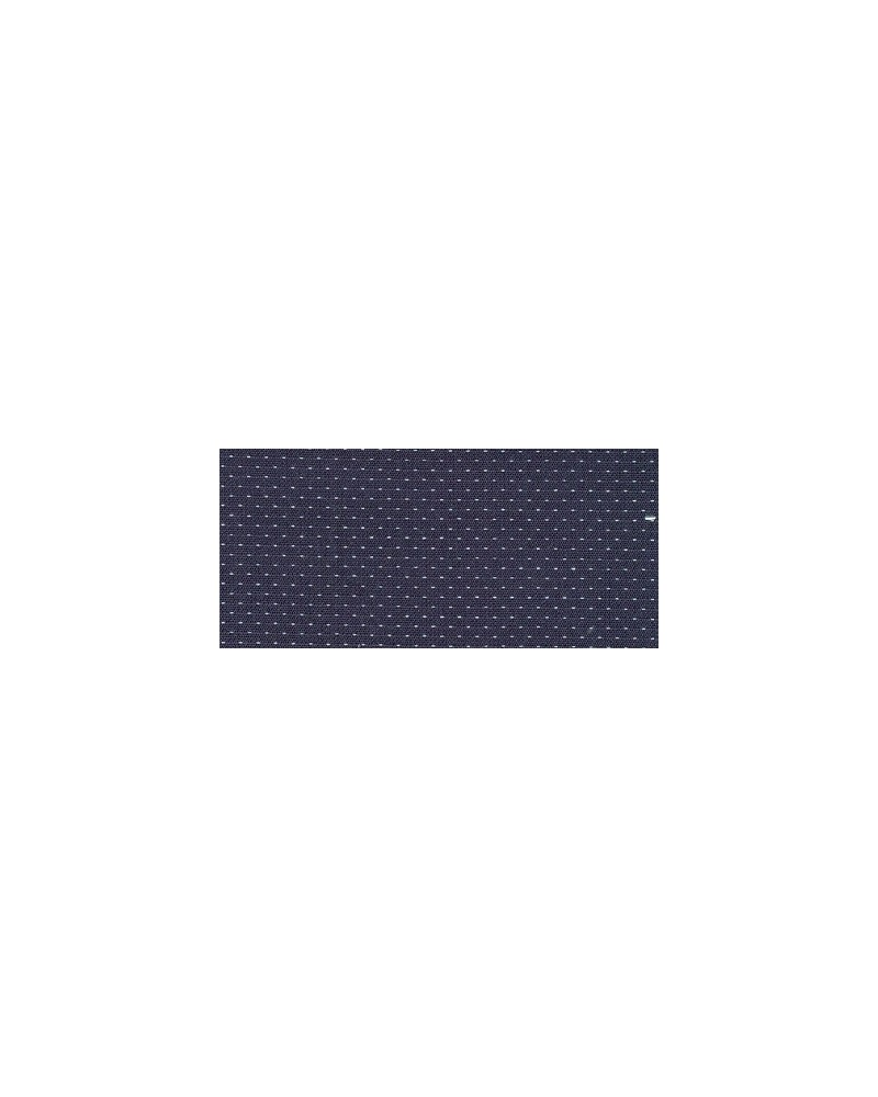 cotton shirt in dark blue with double collar and fine pattern in white