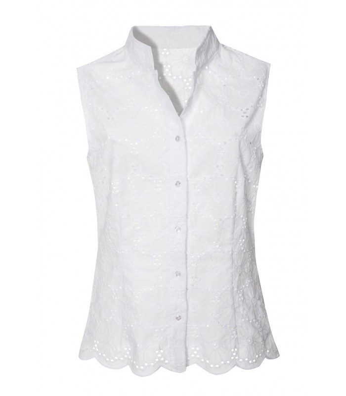 Cotton blouse in white with