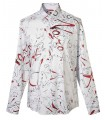 Shirt in white with fancy print pattern