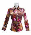 cotton shirt with fancy flower print pattern