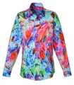Colorful cotton shirt with fancy print pattern